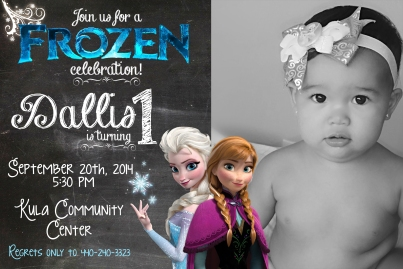 Frozen Birthday Invite - haley mullen